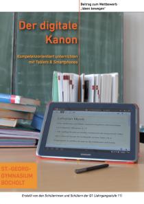 Der digitale Kanon - Kompetenzorientiert unterrichten mit Tablets & Smartphones