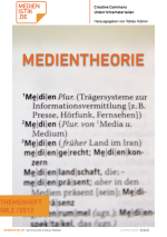 Themenheft 2/2012: Medientheorie