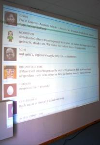 Die Twitterwall auf dem educamp