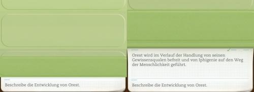 """Mit den in """"Evernote"""" erstellten Fragen können die Schülerinnen und Schüler ihr Wissen testen (App: """"Evernote Peek"""")."""