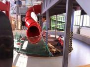 Das Museum bietet einen großen Bereich, in dem sich die Kinder austoben und Experimente machen können.