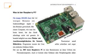"""Jetzt mit Materialien zur Stationenarbeit - """"Unterrichten mit dem Raspberry Pi, V. 3.0"""""""