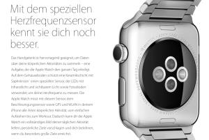 Für mich eher beängstigend als lockend: Werbung für die Apple Watch
