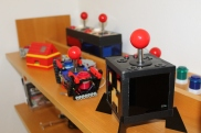 Some joysticks I`ve build to control programs and games.