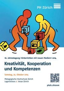 """Flyer der Tagung """"Unterrichten mit neuen Medien"""" 2014 an der PH Zürich"""