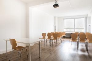 Der Raum der Codingschule im Gewächshaus