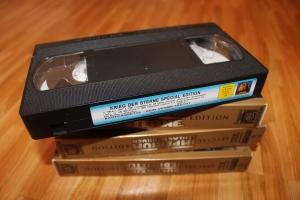 Historisches Bilddokument: Eine bespielte Videokassette