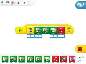 Programmier-Oberfläche der LEGO WeDo-App